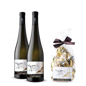 2 bottiglie Müller Thurgau Le Strope + Cioccolatini – Zanotelli